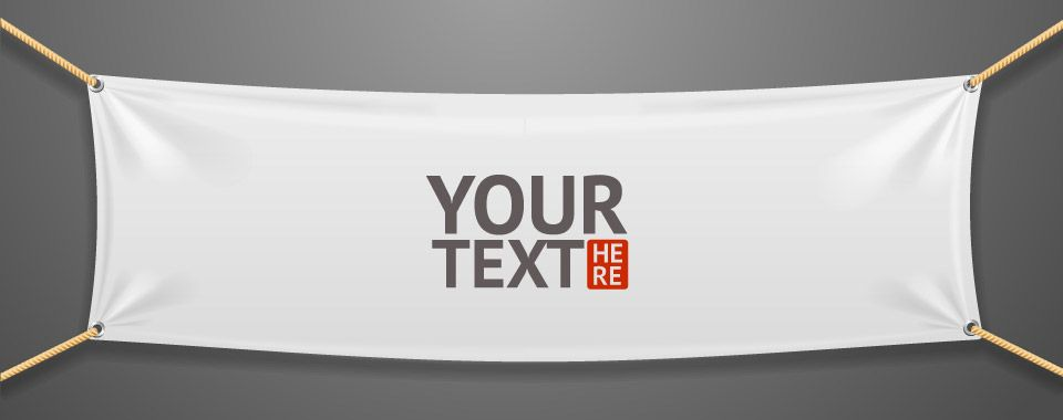 your text here banner